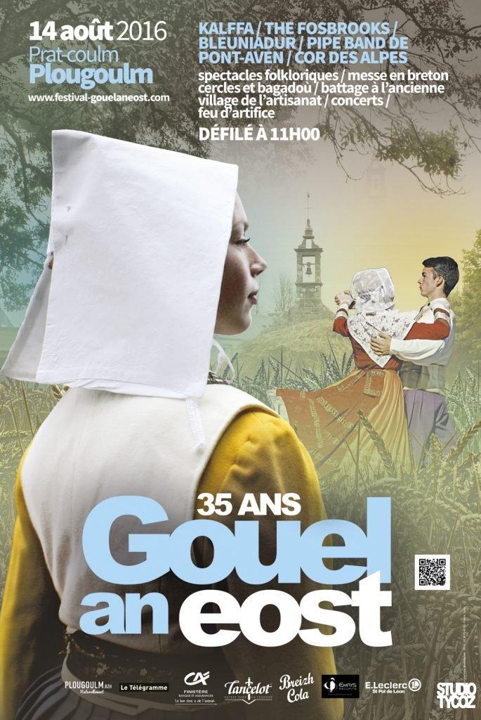 Affiche du festival Gouel an Eost 2016