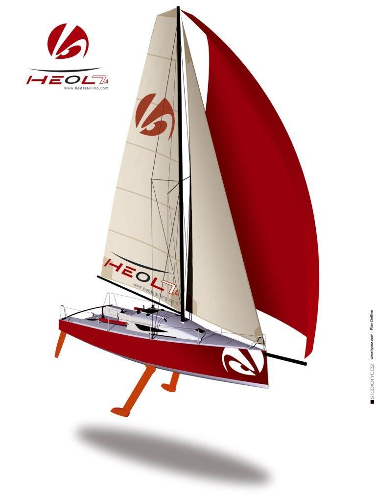 Heolsailing création logo + étude décoration du bateau